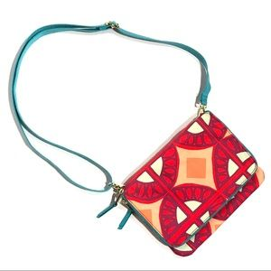 Fossil Multi Color Flap Card Slot Crossbody Bag